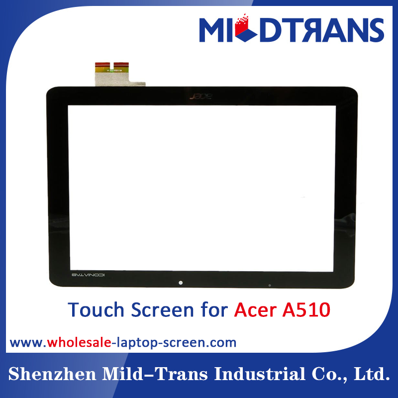 Mildtrans laptop tablet screen specialist Wholesale Original Brand new digitizer Touch Screen for Acer A510