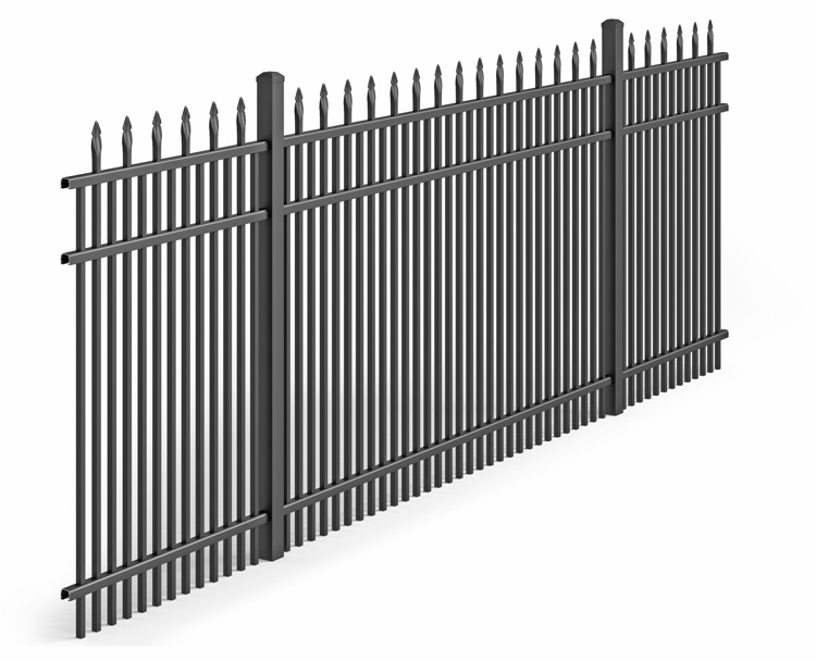 AD Aluminum Fence Section Black Bronze