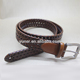 High Quality Italy Genuine Leather Cowboy Belts With Pin Buckle