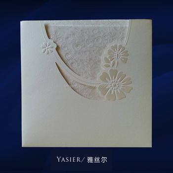 2016 Folding Handmade Gift Card Wedding Invitation