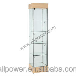 Superb High Quality Oak Standing Showcase, Glass Display Stand, Tower Corner  Display Stand Cabinet