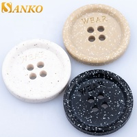 4 Holes sew button custom corn plastic biodegradable resinic button for coat