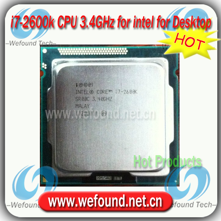 Original for Intel Core i7 2600k Processor 3.4GHz /8MB Cache/over clocking /Socket LGA 1155 / Desktop i7-2600k CPU