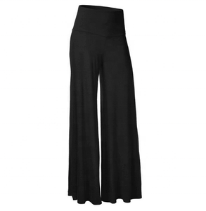 Fashion Latest Women Wide Leg Pants Casual Tall Waist Bigger Sizes