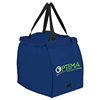 Recycle Utility Cheap Foldable Blue Oxford Grocery Tote Bag Wholesale