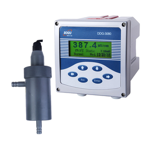 Electrical in line liquid water conductivity test meter with 4-20mA