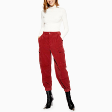 Groothandel Fashion Pockets Detail Rits Casual <span class=keywords><strong>Corduroy</strong></span> Cargo <span class=keywords><strong>Broek</strong></span>