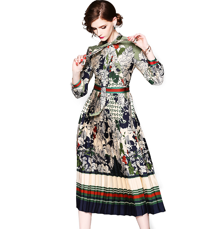 Factory Wholesale ODM Spring Fashion Casual Gorgeous Elegance Printed Women Evening <strong>Dress</strong> For Prom