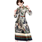 Factory Wholesale ODM Spring Fashion Casual Gorgeous Elegance Printed Women Evening Dress For Prom