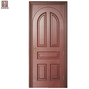 Teak ply solid wood front door designs