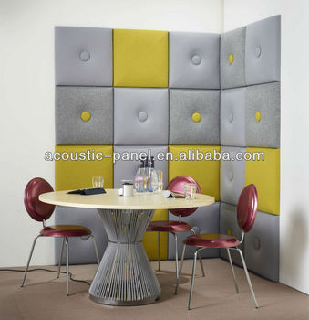 Sound Absorbing Material Sound Insulation Interior Decorative Leather Wall  Panels