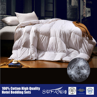 100% cotton down-proof fabric home use and hotel duck down duvet goose down duvet goose down comforter