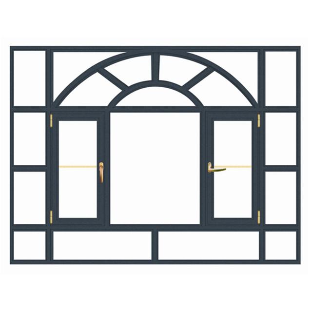אלומיניום דלתות וחלונות צרפתית אלומיניום חלון