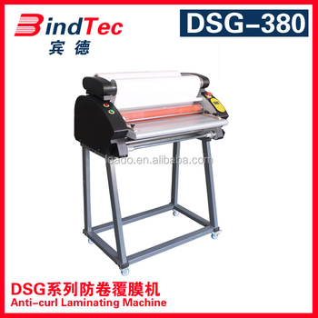 BD-F380DSG hot and cold press laminate machine with stand