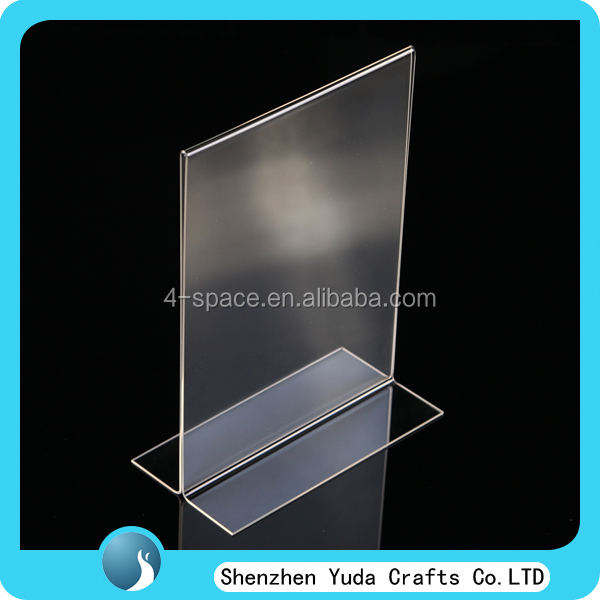 "11""W x 17""H Acrylic t style 2 Sided Double Foot Vertical Sign Holder Bottom load double sided plexiglass sign holders"