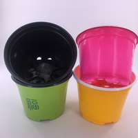 bulk color deep small plastic flower plant pots for garden nursery