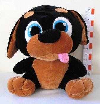 fc26e5f0d0e2 Big Head Black Brown Puppy Dog Stuffed Animal Plush Toy - Buy Big ...