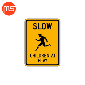 Custom service reflective children at play sign warning sign