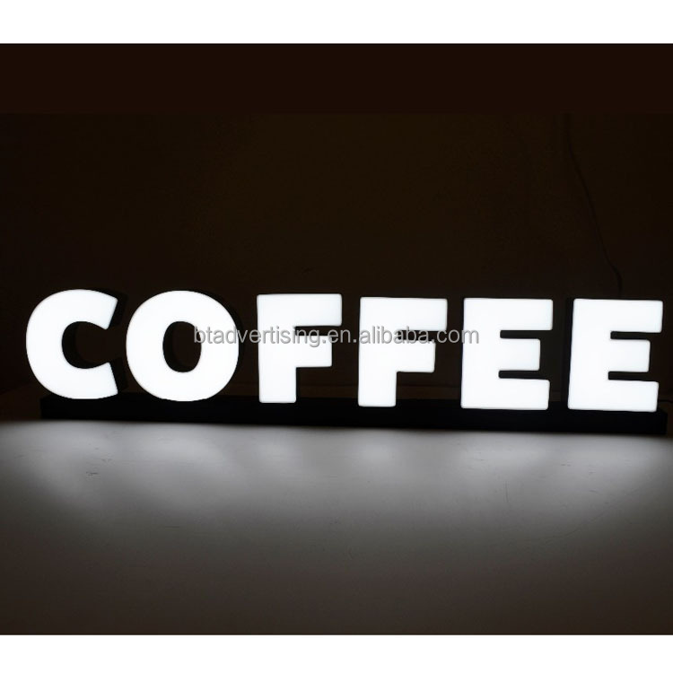 Di alta qualità per esterni grande bere coffee shop segno 3d led luminoso lettere