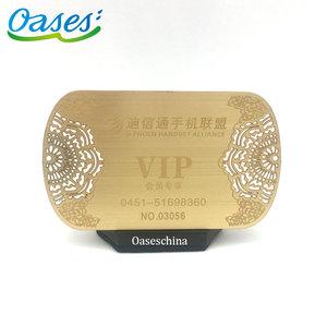 Custom laser cutting metal engraved stainless steel card