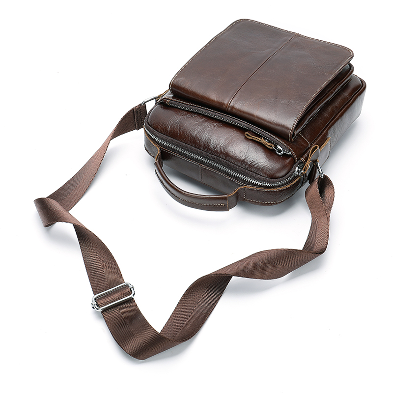 2019 Men's Leather Crossbody Messenger Bag