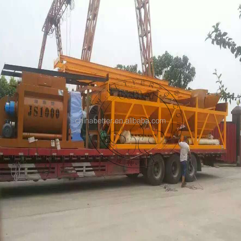 Concrete batching plant Better HZS25 new type self loading cement concrete batching plant