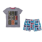 Wholesale New Summer Cotton Young Teen Boys Kids Children Clothes Clothing