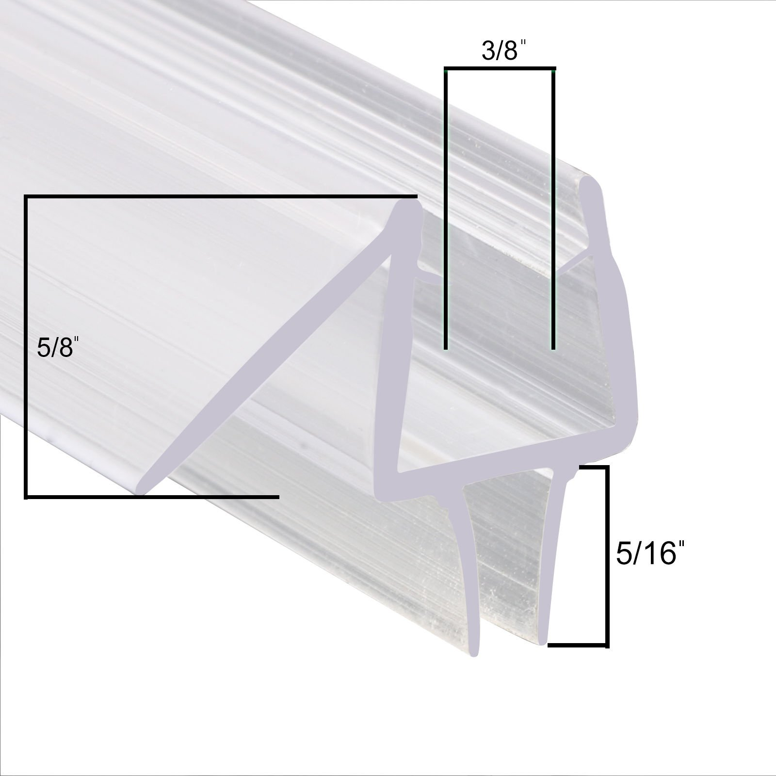 Buy Clear Shower Door Sweep Seal With Drip Rail For 3 16