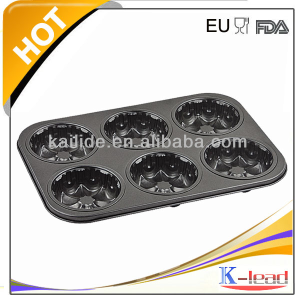 Nonstick 6Cups Crown-Shaped Muffin Pan Creating Uniform Sweet Breads