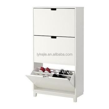 Melamine Wall Mounted Metal Shoe Cupboard 3 Drawer Shoe Cabinet Steel  Storage Box With Umbrella Storage