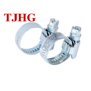 China Factory Galvanized Iron Or Stainless Steel Germany Type Hose Clip On Wholesale