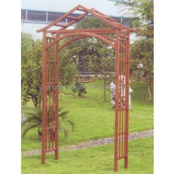 Outdoor Garden Solid Wood Door Arch