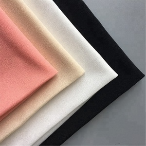 Textile china supplier 100 spandex yarn polyester microfiber crepe fabric