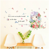 Little Princess Wall Vinyl stickers Children Fairy Tale Sticker Decals for Girl`s Room Decoration