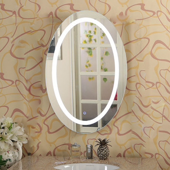 Gentil LED Backlit Illuminated Oval Frameless Bathroom Mirrors