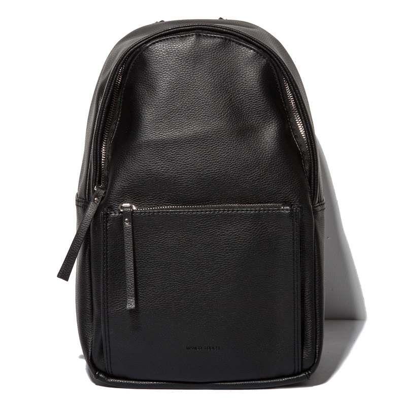 Wholesale PU Fashion Backpack Waterproof Pure Black Backpacks Morenjoy lifeFree Shipping