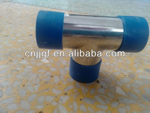 Blue LDPE plastic gas pipe cap fittings
