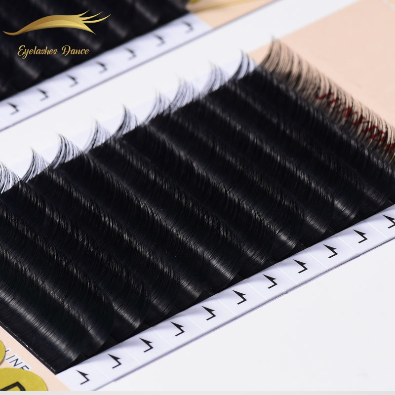 wholesale mink eyelash extension 0.03mm Korea PBT Silk Fiber Eyelash Extension Natural Black Lash Individual Extension, Natural color