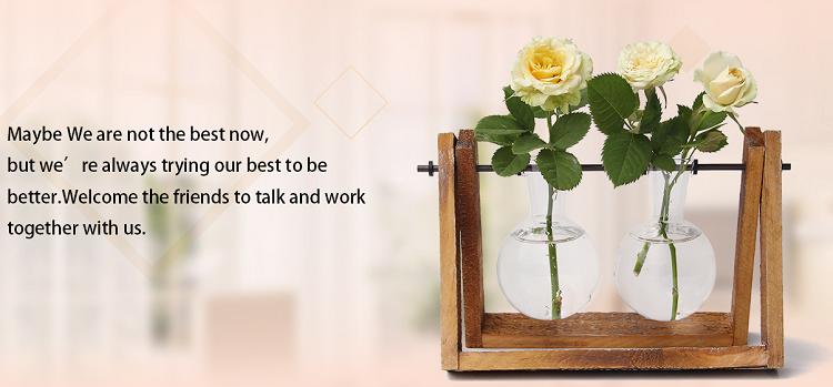 手作りハート金属ワイヤー花瓶ラック 3 ピースクリア装飾花ガラス管