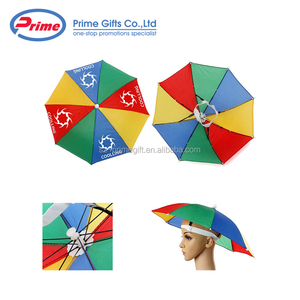 High Quality Funny Rainbow Umbrella Hats for Sale