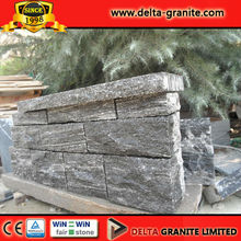 Natural Flamed Dark grey Granite panel wall stone,Dark greyGranite panel wall stone