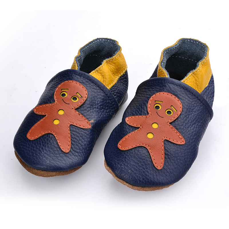 First top layer of leather baby boy & girl first walkers baby shoes flower prewalker toddler wholesale Cartoon characters