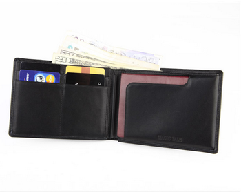 RFID wallet Leather Passport Holder Bag Mini Pen Holder Wallet Coin Purses Wallet Men