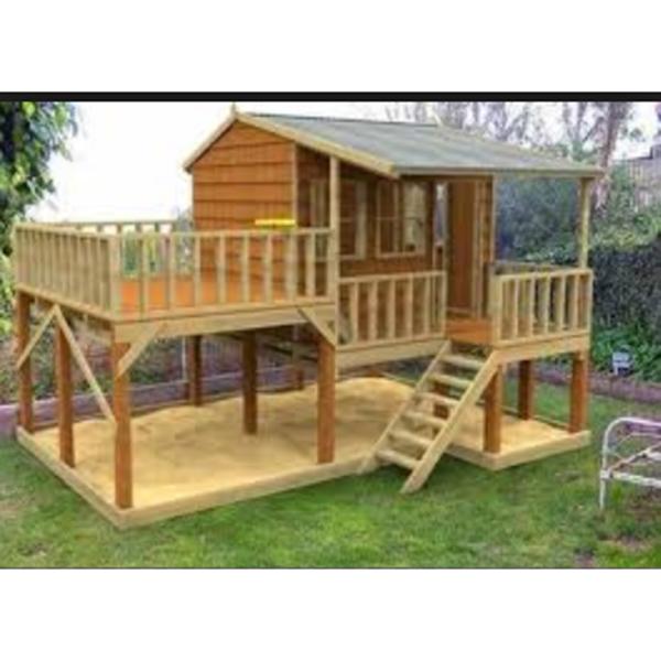 Pr fabricadas de madeira crian as brincar de casinha para - Casitas pequenas de madera ...