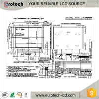 Sunlight readable lcd COM57H5M25KLC transflective lcd modules for industrial application
