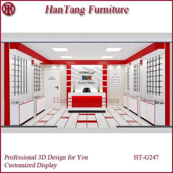 Retail and Free Design Mall Eyeglass Display Cabinet Furniture