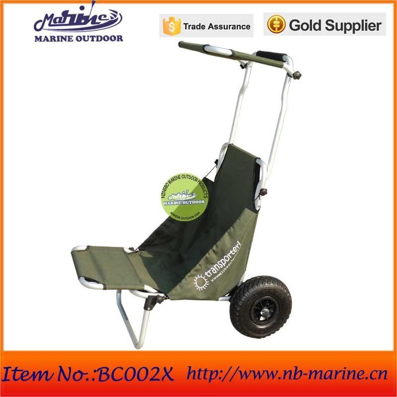 Carro de la carretilla playa de aluminio cesta silla de aluminio para la pesca carros y - Carro para playa transportar sillas ...