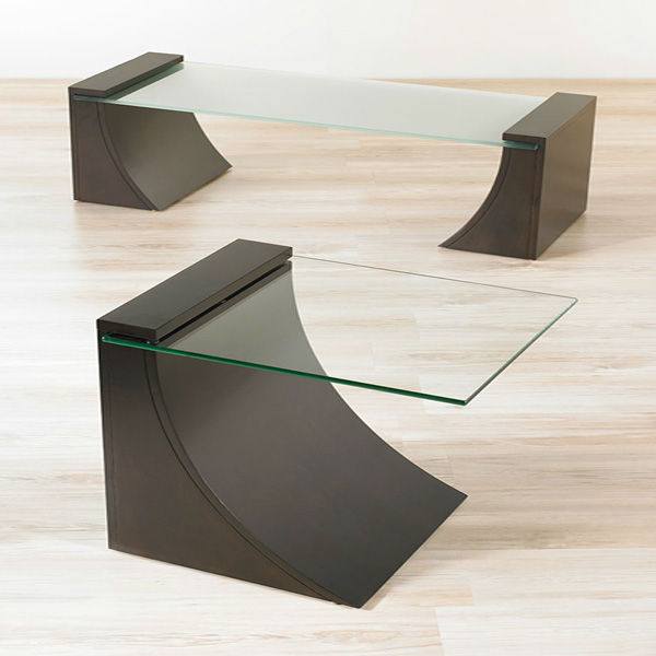 Modern Living Room Wood Glass Center Table - Buy Wood Glass Center ...