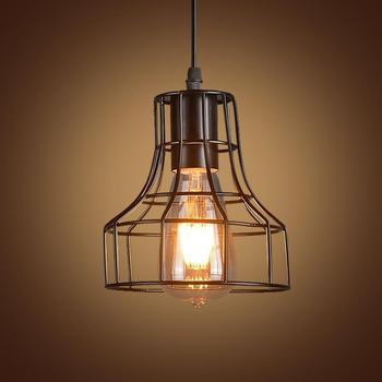 Loft Retro Industrial Pendant Light American Country Style E27