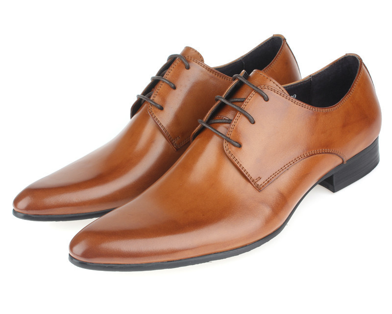 Brown Leather Shoes Without Laces